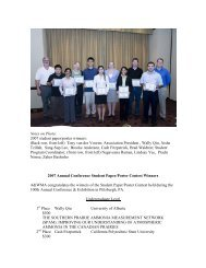 Notes on Photo: 2007 student paper/poster winners: (Back row, from ...