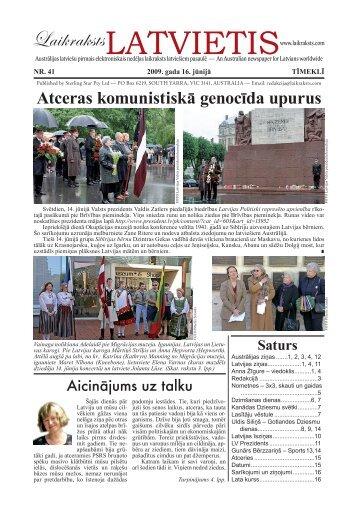 """Laikraksts """"Latvietis"""" 041"""