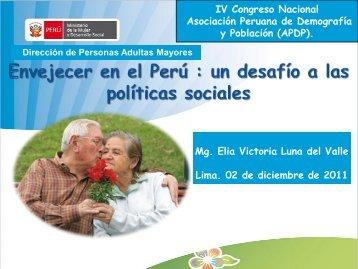 politica nacional para las personas adultas mayores - Asociación ...