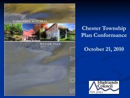 Chester Township Petition for Plan ... - New Jersey Highlands Council