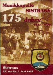 1998 Festschrift 175 Jahre MK Sistrans - Musikkapelle Sistrans