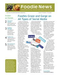 Foodies Graze and Gorge on All Types of Social Media