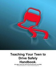 Teaching Your Teen to Drive Safely Handbook