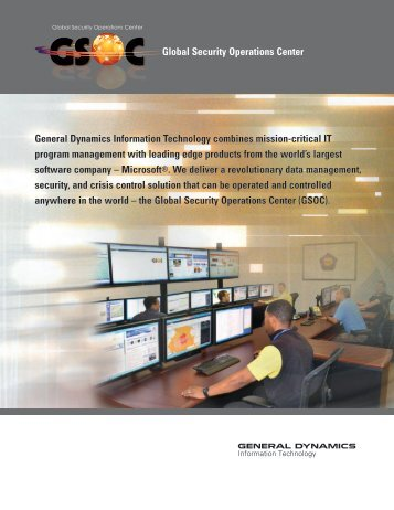 GSOC Brochure - General Dynamics Information Technology