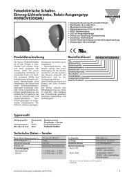 Fotoelektrische Schalter, Einweg-Lichtschranke, Relais ...