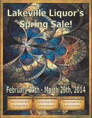 PREMIUM WINE & SPIRITS SALE - City of Lakeville