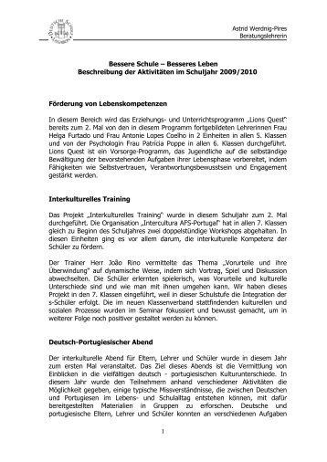 Interne Mitteilung - Deutsche Schule Lissabon