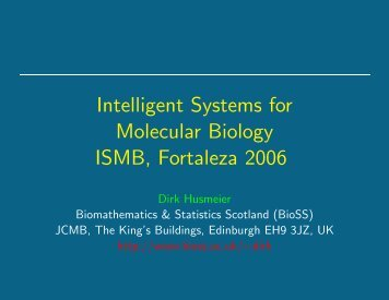 Intelligent Systems for Molecular Biology ISMB, Fortaleza 2006