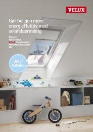 Gør boligen mere energieffektiv med solafskærmning - Velux
