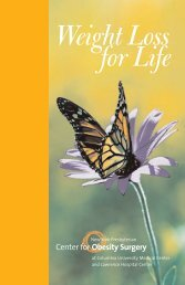 Weight Loss for Life - Columbia Presbyterian Department of Surgery