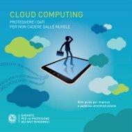 Vademecum Cloud Computing - Garante per la Protezione dei Dati ...