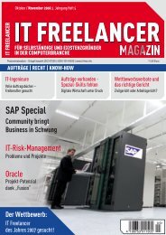 IT Freelancer Magazin Nr. 5/2006