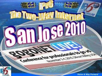 IPv6 Forum Roadmap & Vision 2010 - gogoNET LIVE!