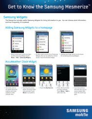 Samsung Widgets - US Cellular