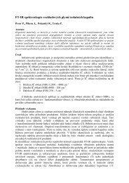 FT-IR spektroskopie rozkladových plynů izolačních kapalin