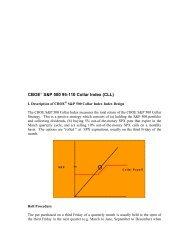 CBOE S&P 500 95-110 Collar Index (CLL) - CBOE.com