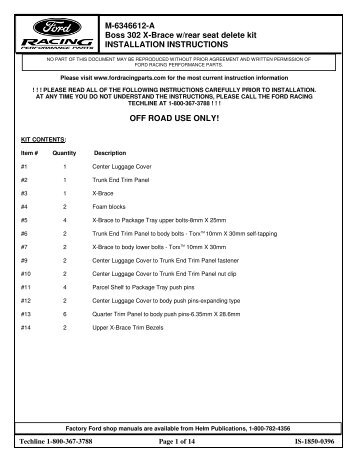 Available (PDF) - Ford Racing Parts