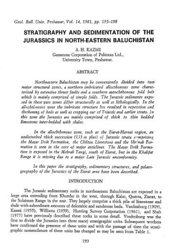 Stratigraphy And Sedimentation Of The Jurassic In North-Eastern ...