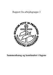 arbejdsgruppe 3 - Center for Medicinsk Uddannelse - Aarhus ...
