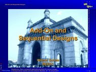 Add-on and Sequential Designs - BEBAC • Consultancy Services for ...