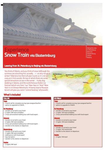 Classic Snow Train St Petersburg Beijing via Ekaterinburg - Russia ...