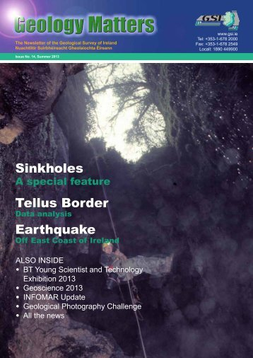Sinkholes Tellus Border Earthquake - Geological Survey of Ireland