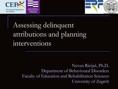 Assessing delinquent attributions and planning interventions