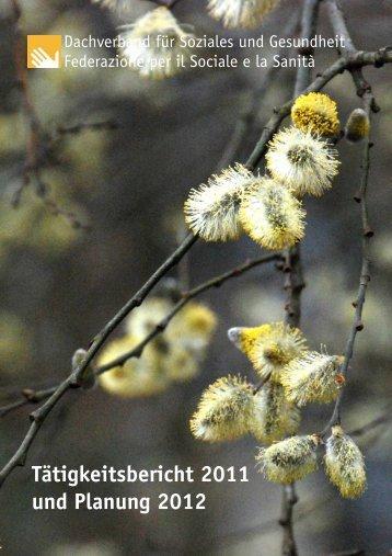 Taetigkeitsbericht 2011 Programm 2012 - Dachverband für Soziales ...