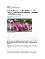 Nearly $5,000 raised for Pink Tie Friends and Susan G. Komen ...