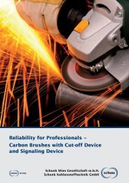 Carbon Brushes with Cut-off Device and Signaling ... - Schunk Group