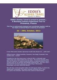 Provence, France 22 – 29th, October, 2012 - Kosher Travelers