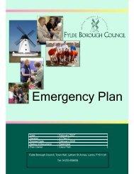 Emergency Plan - Fylde Borough Council