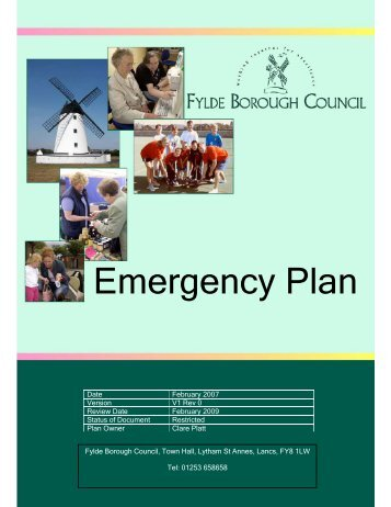 Emergency Plan - Fylde Borough Council