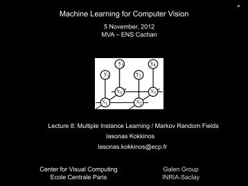 Machine Learning for Computer Vision - Ecole Centrale Paris