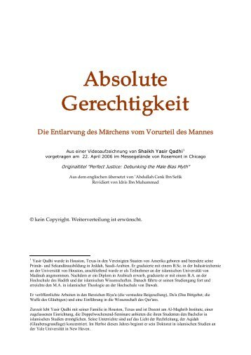 Absolute Gerechtigkeit (pdf) - Way to Allah