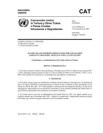 Convención contra la Tortura y Otros Tratos o Penas ... - Acnur