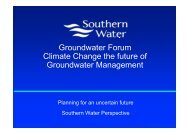 Planning for an uncertain future - The UK Groundwater Forum