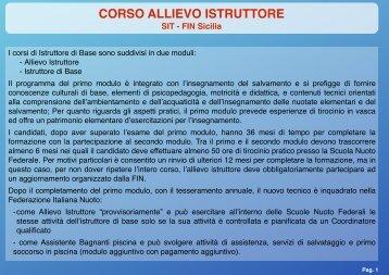 CORSO ALLIEVO ISTRUTTORE - FinSicilia