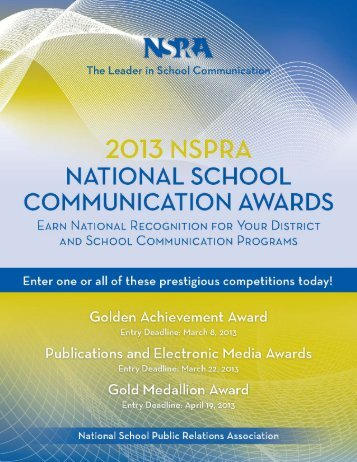 read the brochure - National School Public Relations Association