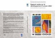 Rapport arabe sur le développement humain 2002 - Arab Human ...
