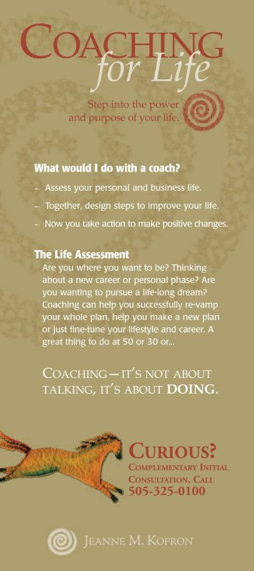 COACHING For Life - Cornerstone Business Solutions
