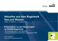 Regelwerk Gas und Wasser 08/2013 (3. Quartal 2013)