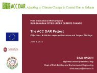 Macchi, S., The ACC DAR Project. Objectives, Activities, expected ...