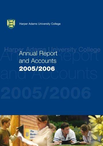 Annual Report and Accounts 2005/06 - Harper Adams University ...