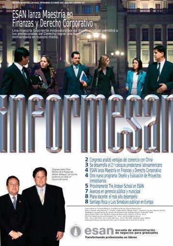ESAN lanza Maestría en Finanzas y Derecho Corporativo