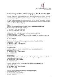 Aortenaneurysma Info- & Screeningtage 14. bis 18. Oktober 2013