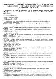 lista definitiva de aspirantes admitidos y excluidos para la provisión ...