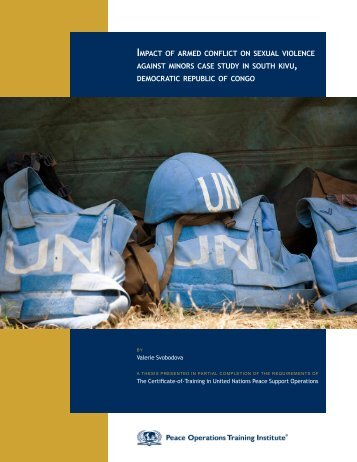 impact of armed conflict on sexual violence against minors case ...