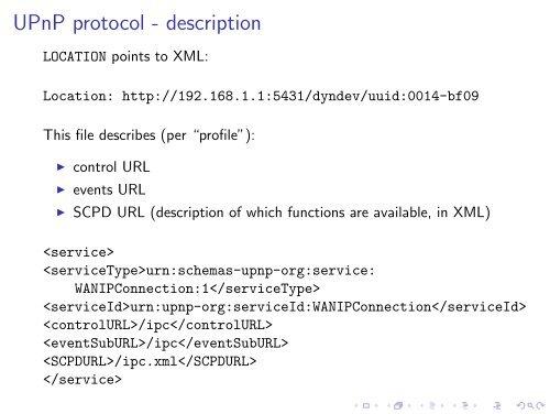 UPnP protocol - discovery