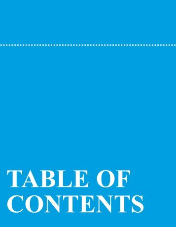 Table of Contents - Blue Cross